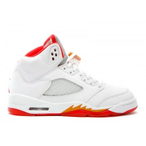 Air Jordan 5 Retro Sunset Fire Red GS Women's 134092 161