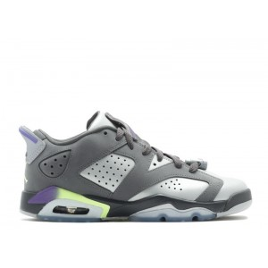 Air Jordan 6 Retro Low Dark Grey GS Women's 768878 008