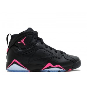 Air Jordan 7 Retro Black Hyper Pink GS Women's 442960 018