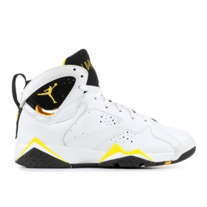 Air Jordan 7 Retro White Varsity Maize Black GS Women's 304774 172