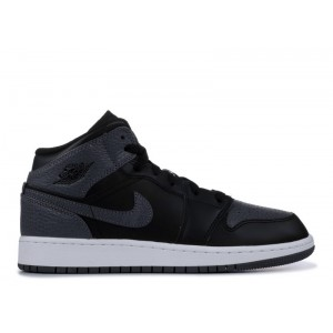 Air Jordan Retro 1 Mid Black 554725 041