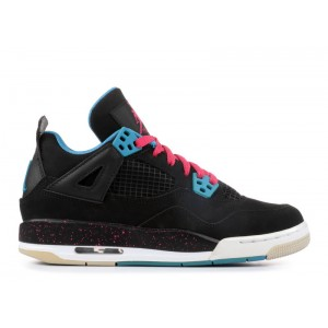 Air Jordan 4 Retro Black Vivid Pink GS 487724 019
