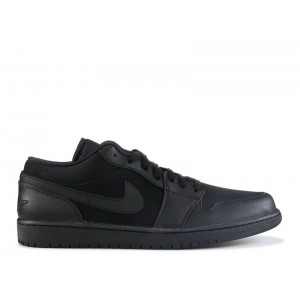 Jordan 1 Low Triple Black 553558 011
