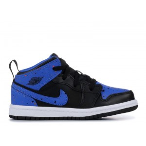 Jordan 1 Mid Bt Royal Paint Splatter 640735 048 Sale Online