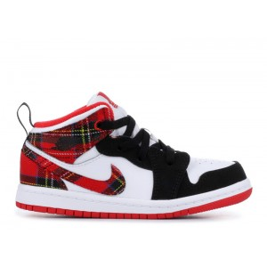 Air Jordan 1 Mid University Red Black White TD 640735 607