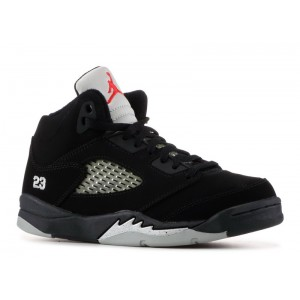 Jordan 5 Retro Black Metallic Silver Fire Red PS 135346 004