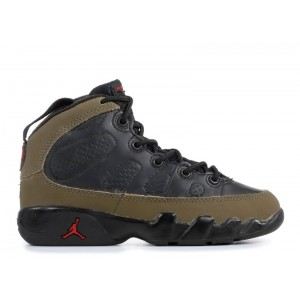 Jordan 9 Retro Black Light Olive True Red 302360 031 Hot Sale