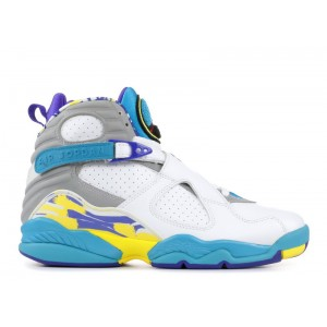 Air Jordan 8 Retro White Aqua Women's 316836 161
