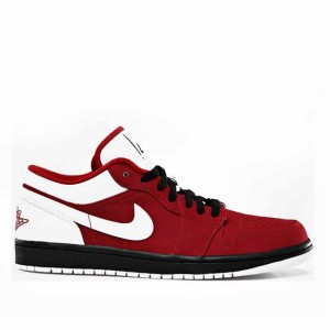 Air Jordan 1 Low Red White Black Mens 553558 601