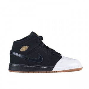 Air Jordan 1 MID Gold And Gum GG 555112 021 Sale Online