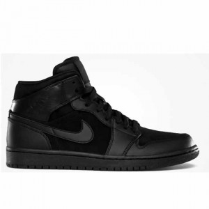 Air Jordan 1 Phat Mid Triple Black 364770 020