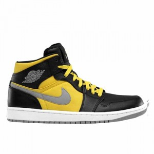 Air Jordan 1 Phat Black Speed Yellow 364770 050
