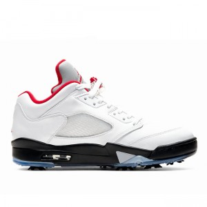 2020 Air Jordan 5 Low Golf Fire Red White/Black CU4523-100