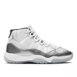 Hot Sale Air Jordan 11 WMNS Metallic Silver AR0715-100