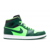 Air Jordan 1 Mid Hulk Gorge Green Mens 554724 330